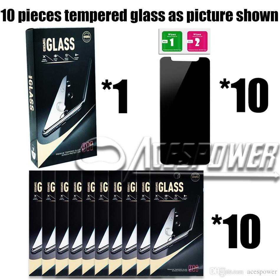 Para iPhone 12 Mini 11 Pro XR XS max x 8 7 6s mais protetor de tela de privacidade Anti-espião Vidro temperado real