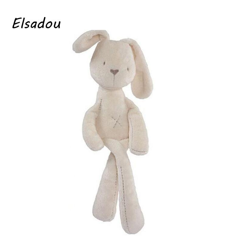 2019 Elsadou Cute Baby Soft Plush Toys White Rabbit Sleeping Mate