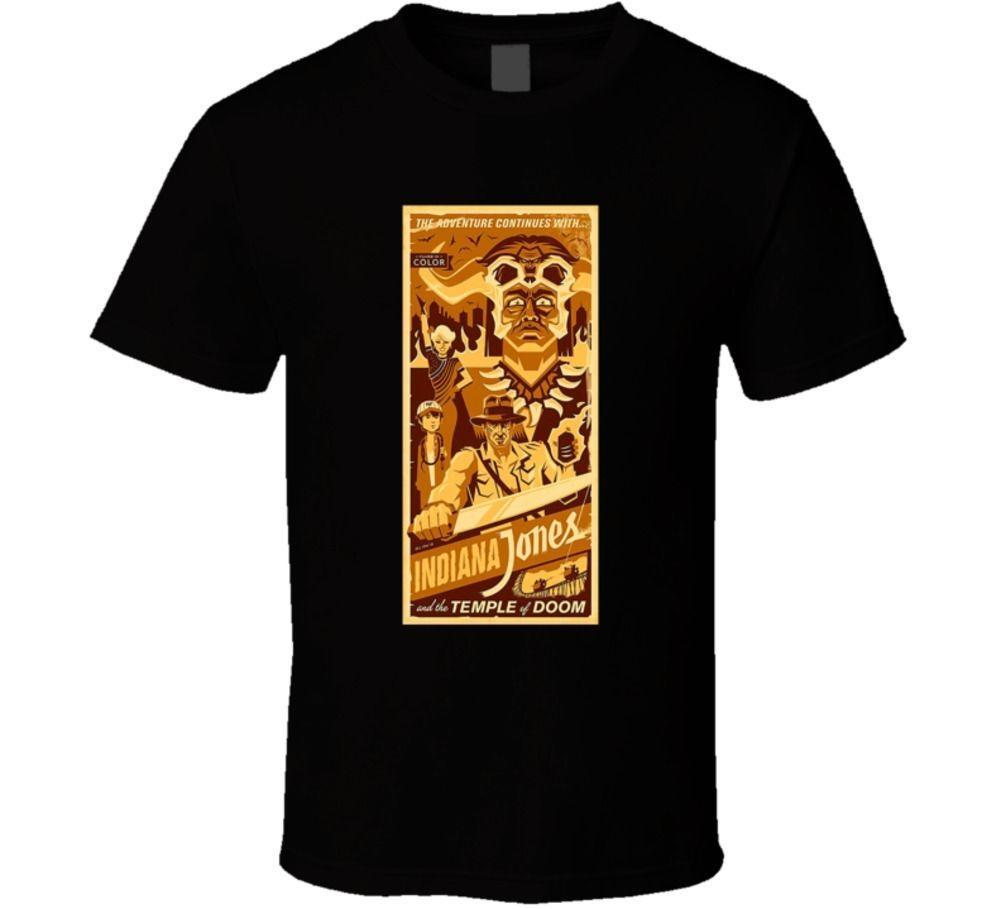 Compre Camiseta Indiana Jones Temple Of Doom Harrison Ford Movie Fan  Camiseta Informal Camiseta De Manga Corta Para Hombre A  11.78 Del Biyue4  81906058379