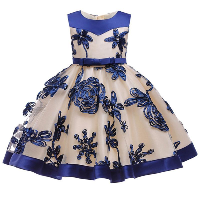 cc108b1fff Compre Ropa Infantil Niña Cumpleaños Princesa Fiesta Vestido Niña Bebé Flor Bebé  Niños Vestido Niña 3 4 5 6 7 8 9 10 Años Ropa Tutu A  74.36 Del ...