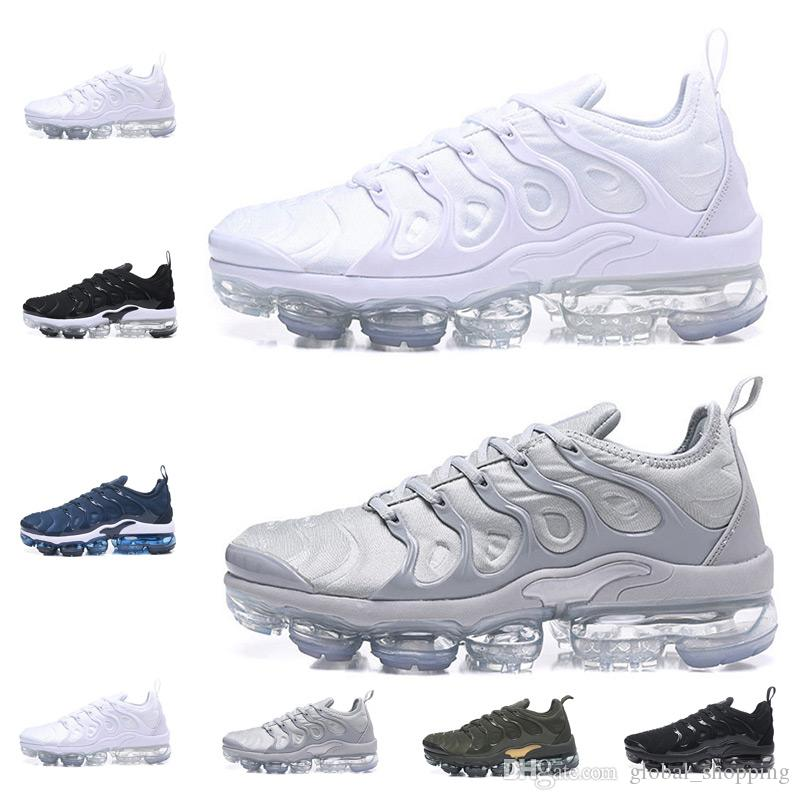 pictures cheap price get to buy Vapormax TN Plus Men running Shoes Olive In Metallic White Silver Colorways Shoes s Outdoor Run Shoes Casual Jogging men Sport shoe 340-45 pKjk1AJYa