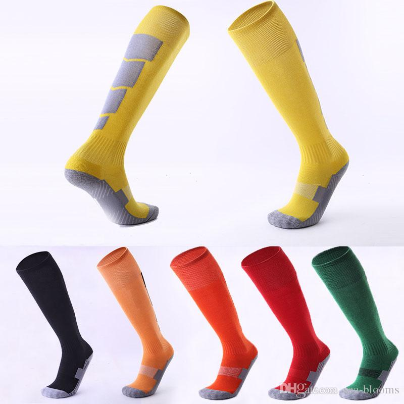 f41fc546282 2019 Non Slip Over Knee Football Stockings Thicken Towel Bottom Socks  Outdoor Sport Socks Sweat Absorbent Wearable Sports Socks Custom LOGO G482Q  From Sea ...