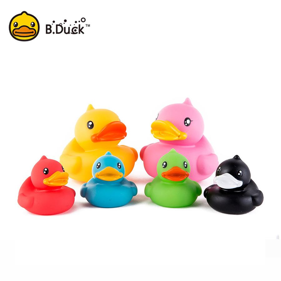 Wholesale-B.Duck Baby Bath Toys PVC Duck Shower Water Floating Mini ...