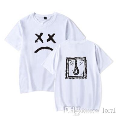 Compre Ropa De Streetwear Hombres Hip Hop Lil Peep Camisetas Con Camiseta De  Verano De Cara Triste Tops De Manga Corta A  19.59 Del Loral  758097eca12