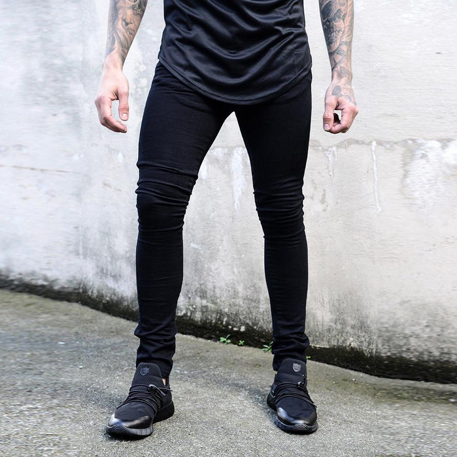 Nouveau Skinny Hip Stretch Classique Hommes Noir Jeans Acheter Hop 4adPq4