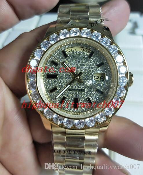 Compre Relojes De Pulsera De Moda De Lujo Para Hombres Día Fecha 18K Oro  Amarillo Diamante 41mm 18958 118238 228238 ETA Movimiento Reloj Automático  Para ... c85248cddcb2