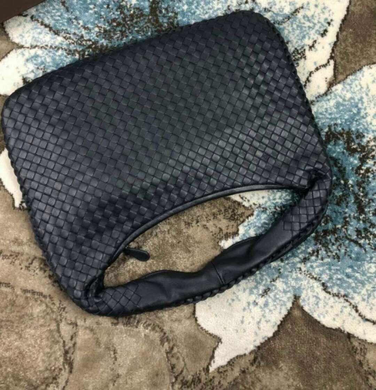 2018 women handmade material crochet genuine sheep skin leather soft handbag elegant fashion kintting big size bag casual hobos shoulder bag