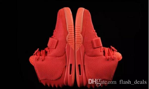 0e9170378d4ab 2018 Kanye West 2 SP Red October Sports Shoes With Packages With Dust Bag  Mens Sneakers Kanye West II Glow Dark Octobers Athletic Trainers Kevin  Durant ...
