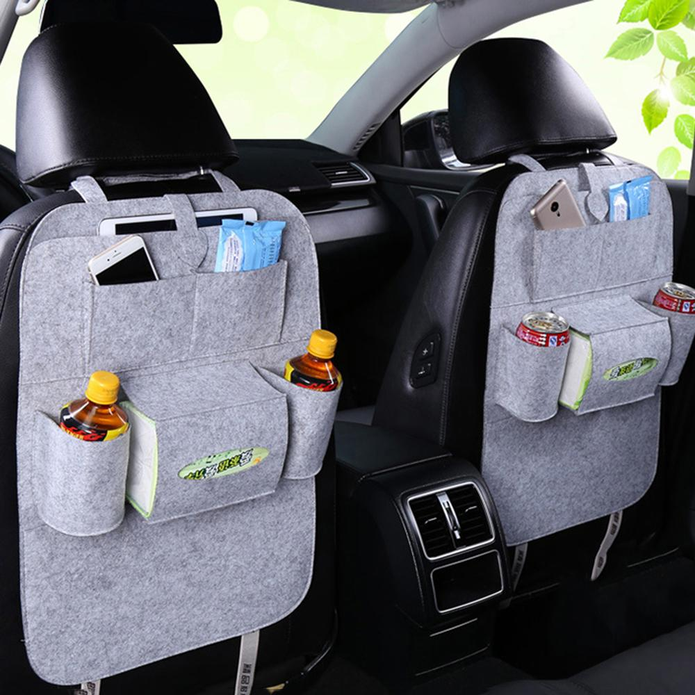 Car Storage Bag Universal Back Seat Organizer Box Felt Covers Backseat Holder Multi Pockets Container Stowing Tidying Styling
