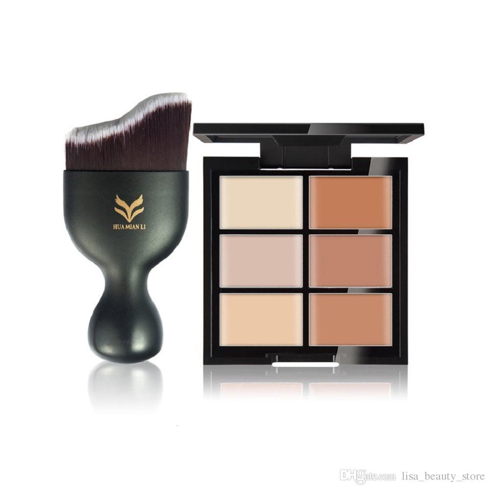 6 Цвет маскирующее волнистые Фонд кисти воды макияж комплект трансграничной трансграничной слоеного для румян 6 комбинаций