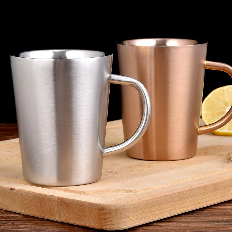 Anti Mug Metal Cup Simple Scalding Stylish And Stainless Creative Milk Drink Double Steel hdtsrCxQ