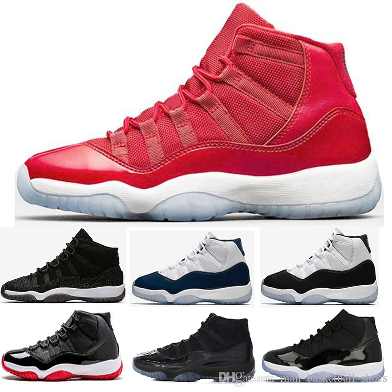 e73bd57fadf Wholesale Prom Night 11 11s Basketball Shoes Men Women Cap And Gown Space  Jam Gamma Blue Gym Red Infrared Navy Gum Sports Sneakers Men Basketball  Shoes ...