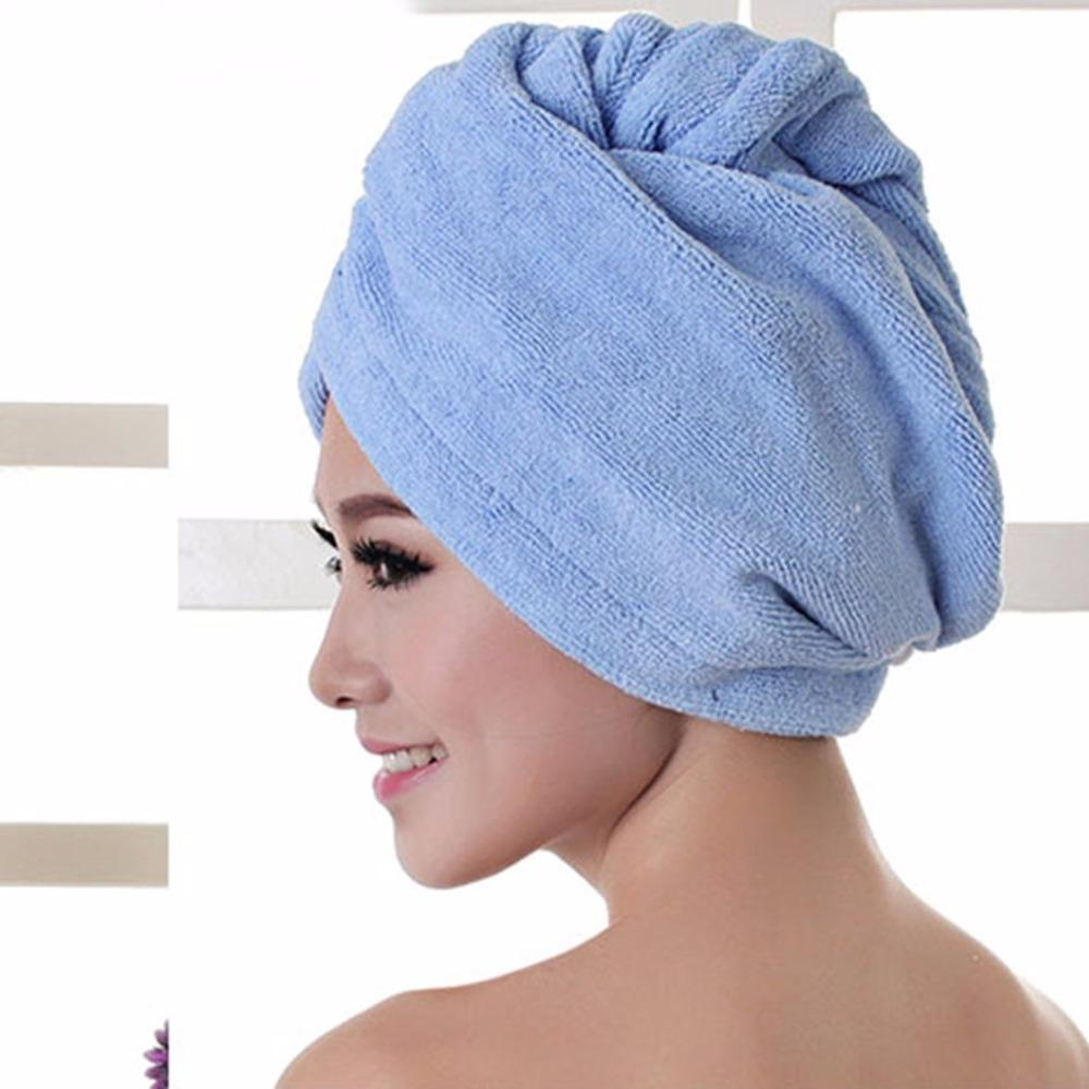 b60cbe1ff51 2019 Multicolor Soft Bath Towel Hair Dry Cap Comfortable Superfine Fiber  Water Absorbent Quick Drying Adults Bathroom Salon Towel From Flymachine,  ...