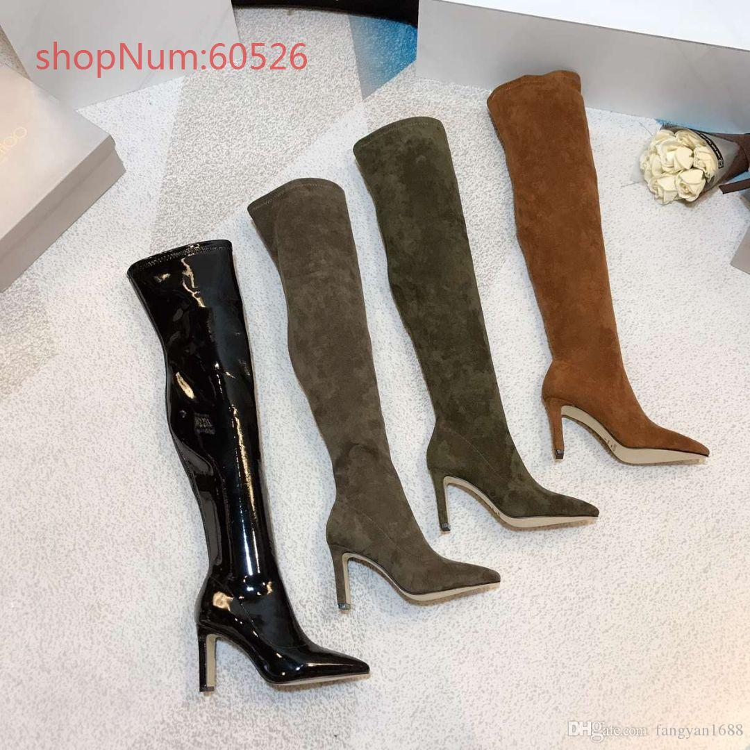 7ddeda94c82d6 High End Luxury Brand New Design Women Thigh Boots Top Qulity Kitten Heels  Personality Fashion Women Shoes 35 40 Mens Leather Boots Grey Boots From ...