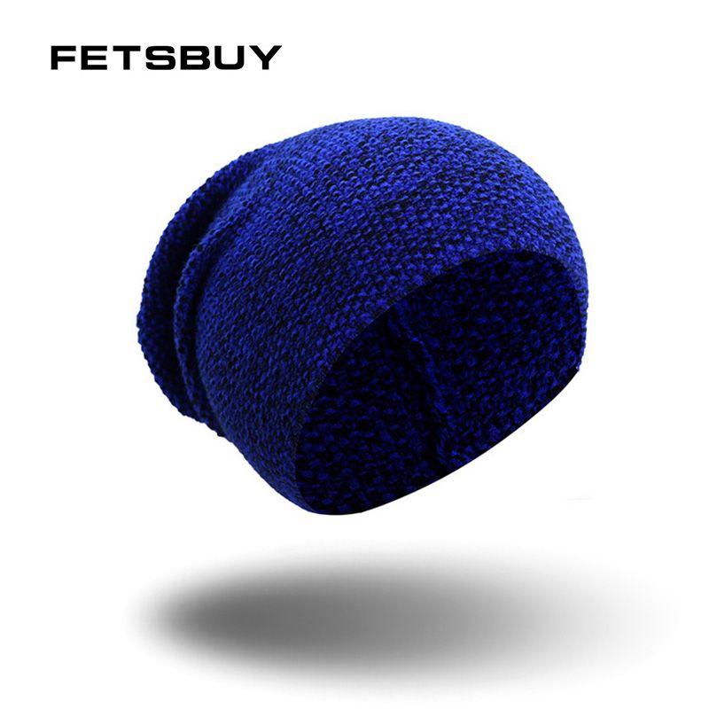 2b5e42674b1 2019 FETSBUY Brand Winter Beanies Bonnet Knit Hat Men Winter Hats Beanie  Skullies Balaclava Black Gorros Warm Hats From Miaoshakuai