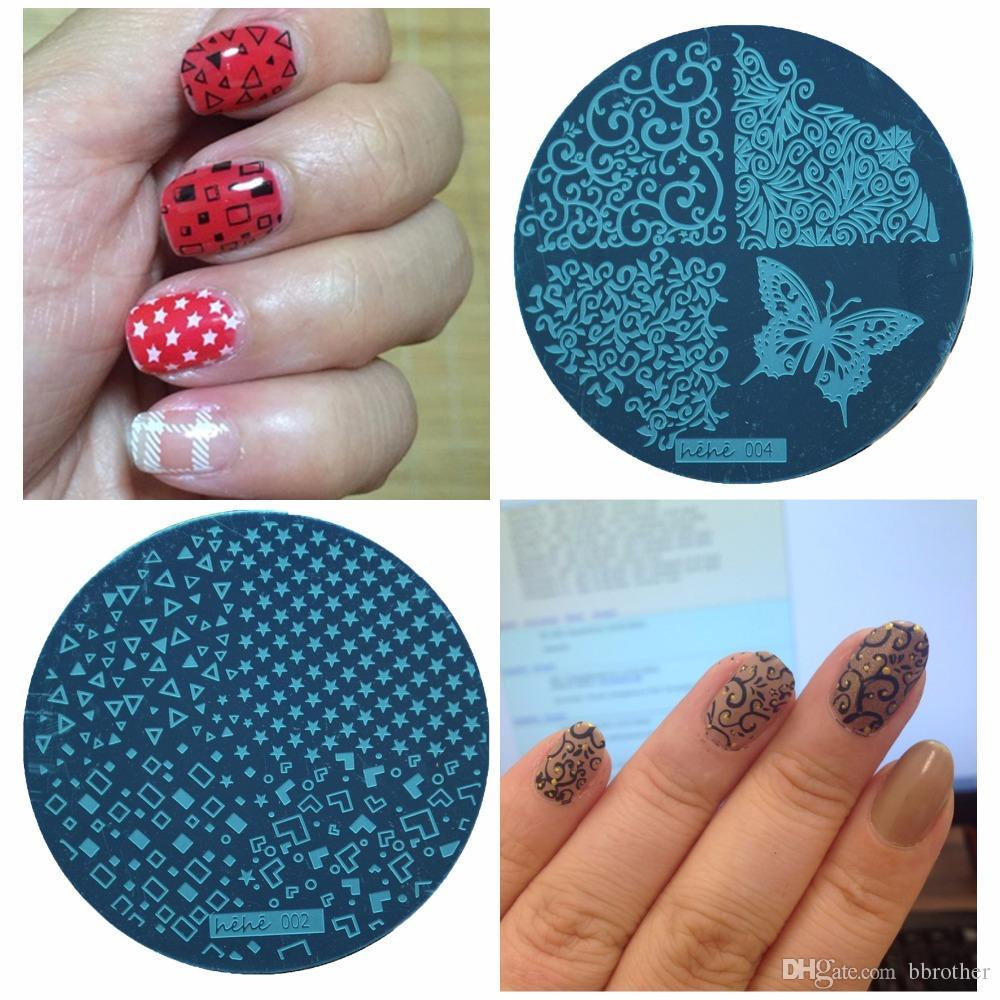 Nails 55 Disc Template Nail Stamping Plates Polish Stencils For