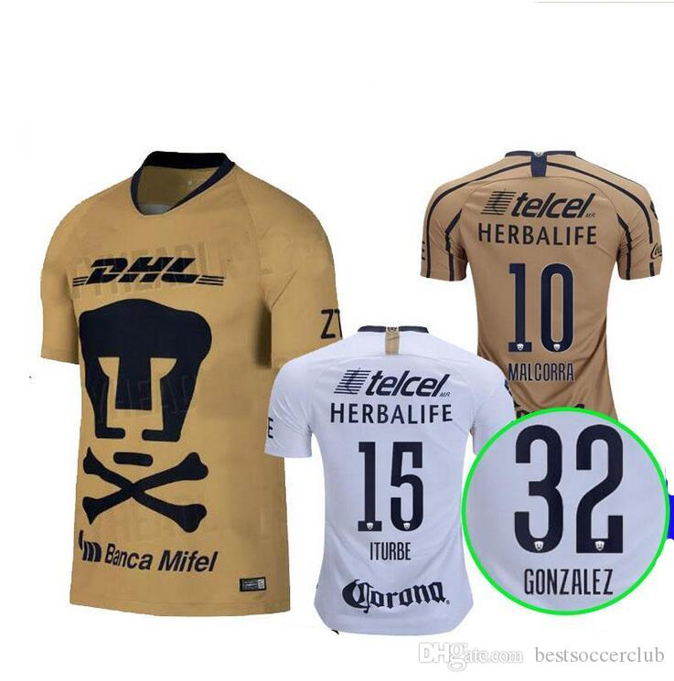 cde00d164 TOP QUALITY 2018 2019 UNAM Pumasi Home 3RD Soccer Jersey Away Blue ...