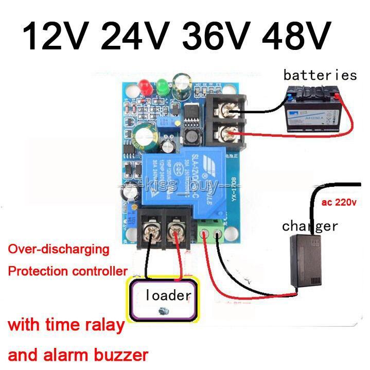 Relay Modules & Boards 12V 24V 36V 48V 30A Battery Anti-over