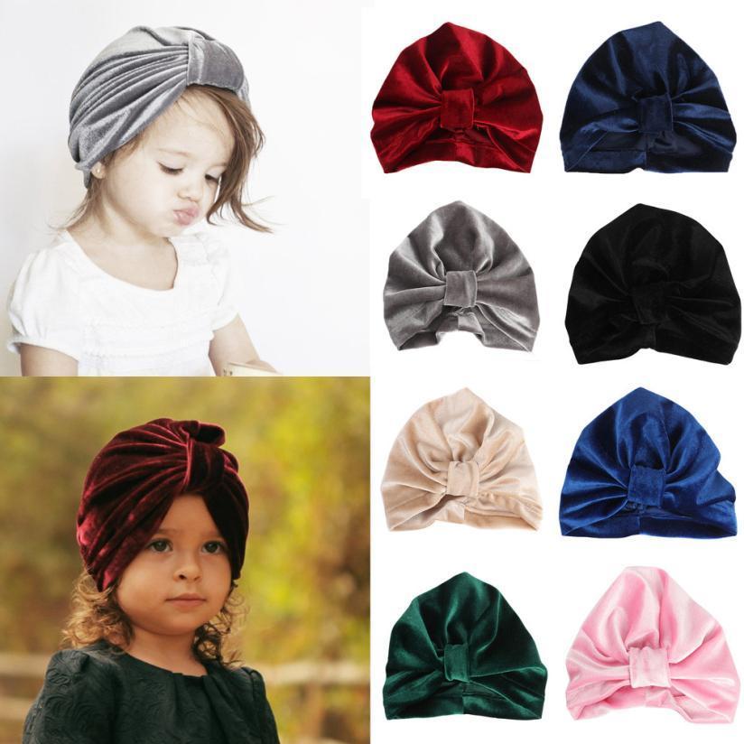 Acquista Berretto Neonato Bambina Ragazzi Orecchie Di Coniglio Cotton Soft  Turbante Bowknot Cotone Sleep Cap Headwear Bohemian Bambini Cappelli Beanie  A ... 4cf0ed34a7a9