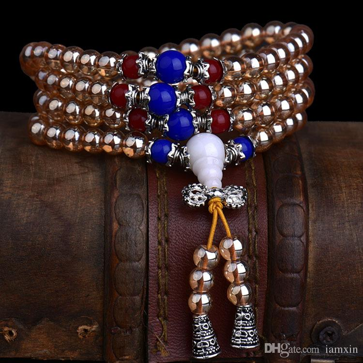 Natural Stone Bead Strand Bracelets Bangles for Men Women Male ... 68c37469a255