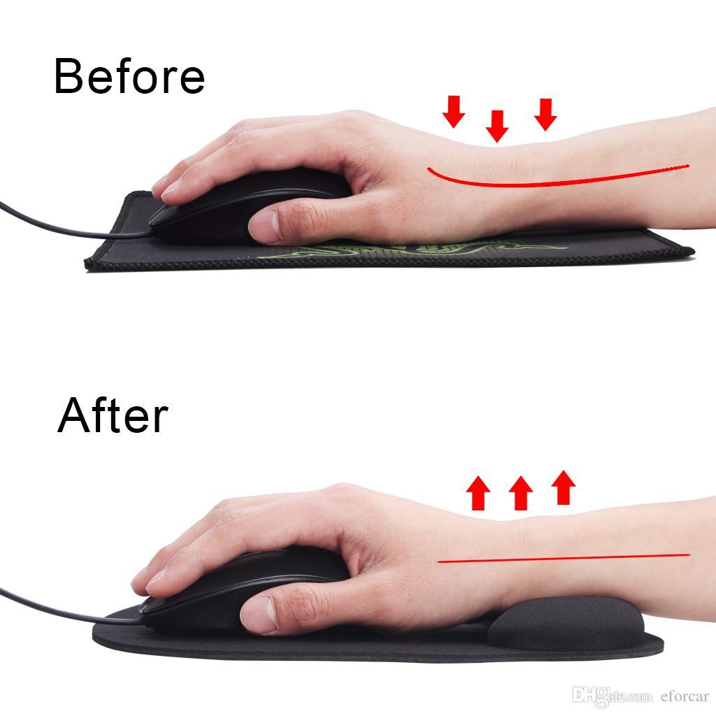 Mouse Pad Bilek Istirahat ile Köpük Köpük Kaymaz PU Alt Ağrı kesici Bilek Işçi Sosyal Işçi Gamer Öğrenci için 2 Renkler