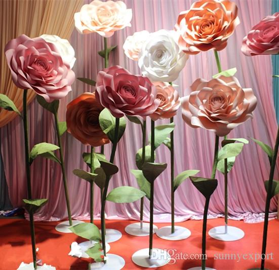 2019 Outdoor Wedding Large Flowers Red Rose Background Wall Window