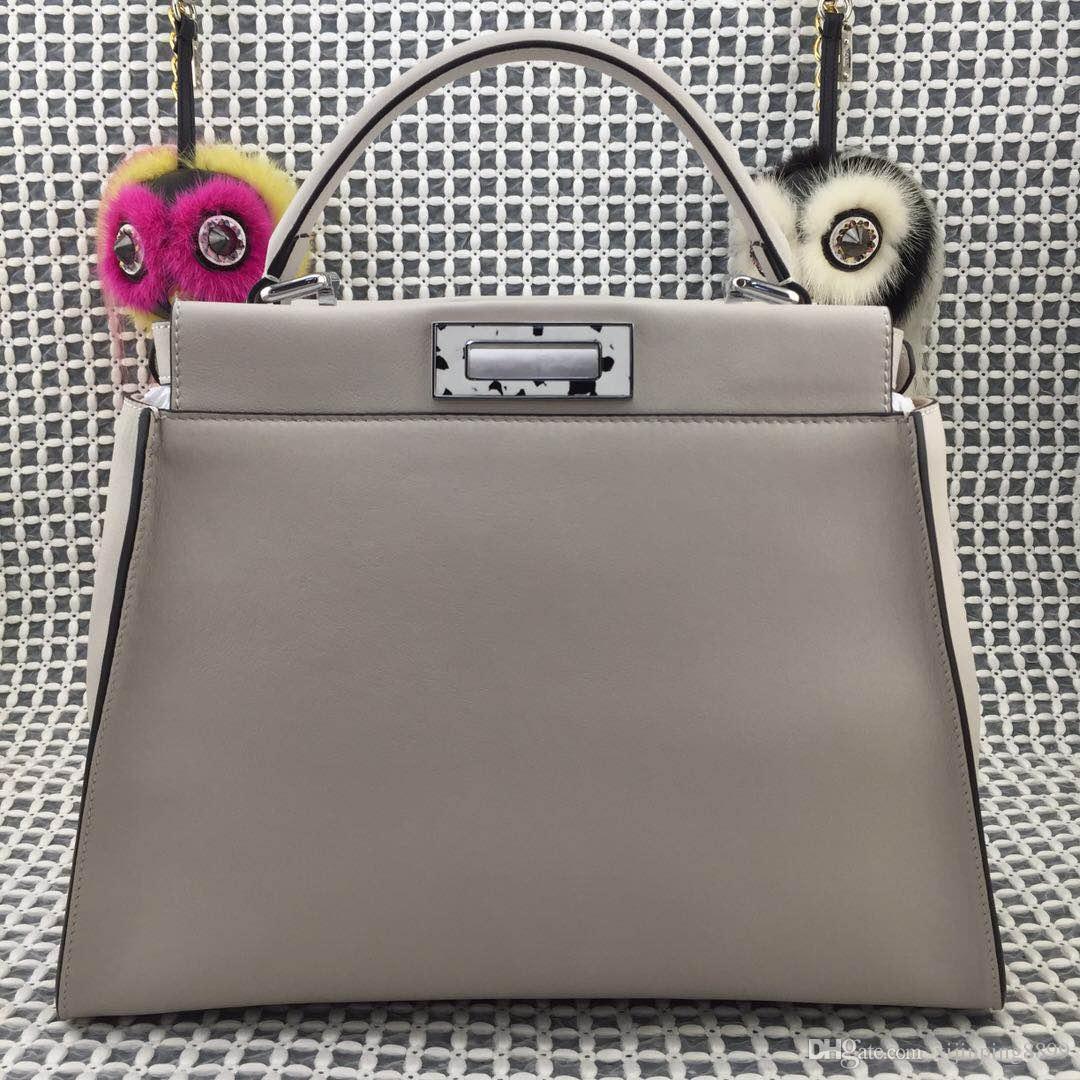 22c2845947 Acquista 2018 Donne Moda Peekaboo Tote Grande Shopping Bag Borsa A Tracolla  Borse Originali Vera Pelle Genuino Delle Signore Femminile Borse Femminili  ...
