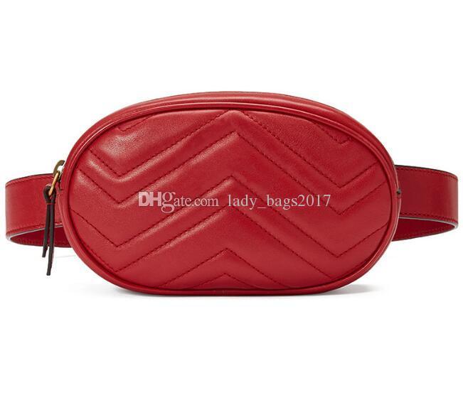 Novo Designer de couro Amor coração V Padrão de Onda sacos de cintura das mulheres dos homens sacos de ombro Cinto Bolsa de Ombro Sacos de cadeia de Mulheres Bolsas