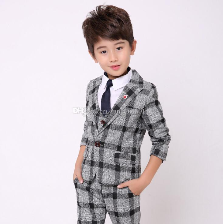 af322366b New Fashion Boys Formal Suit Wedding Birthday Party Dress Baby Kids Blazer  Vest Pants Suit Set Children Costumes Outfits Canada 2019 From  Tangyuan0117, ...