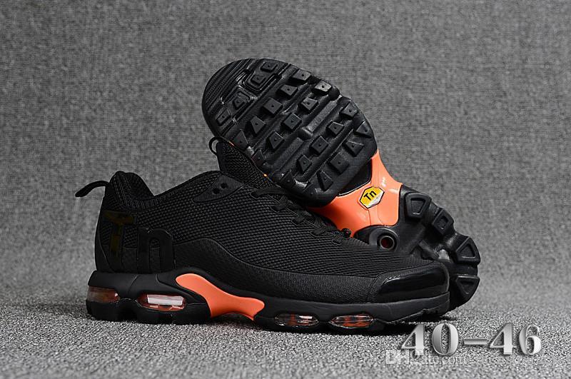 cf69dbdc00 Orange Black Mens Mercurial TN Running Shoes Chaussures TN Men Basketball  Shoes Outdoor Zapatillas Hombre Man Designer Sneakers Eur40-46 TN Shoes  Zapatillas ...
