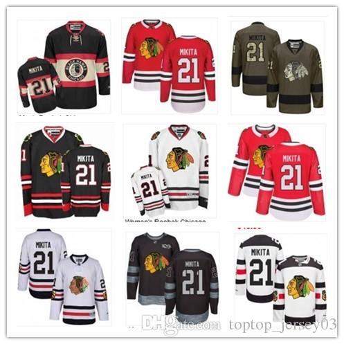 2018 Chicago Blackhawks Jersey  21 Stan Mikita Jersey Men  WOMEN ... 2c7cb16ed