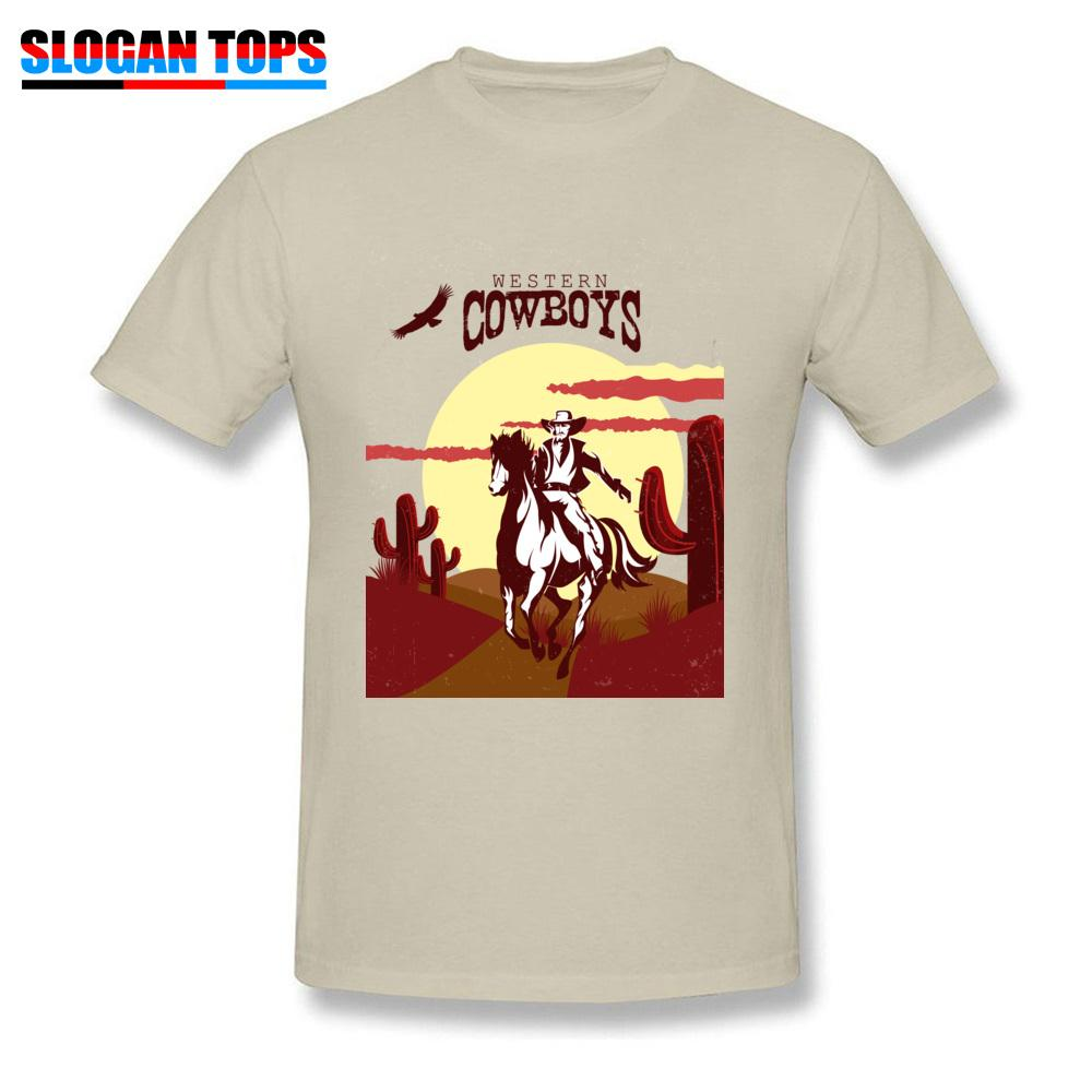 708b1be8aa1 Fashion Men T Shirt Wild Beige T Shirts Rider In The Desert Western Style  Tops Horseback Cowboy Tees Male Cotton Clothing XXXL Thirts Og T Shirt From  ...