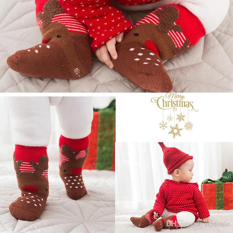 Großhandel 0 ~ 1 Jahre Alt Baby Socken 4 Stück / Set ...