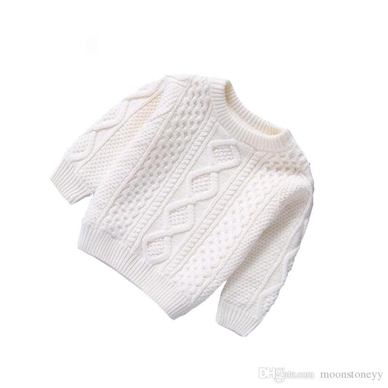 65ae4940fa31 Baby Clothes O Neck Warm Baby Boys Pullovers Plush Inside Sweater ...