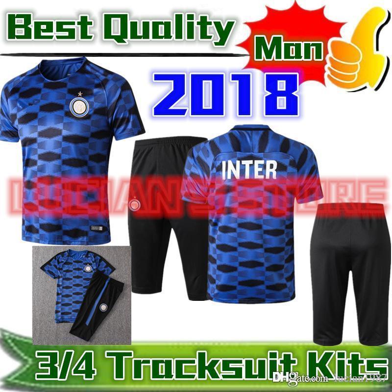 da22feec6 2018 Summer New INTER Short Sleeve Tracksuit Kits Handanovic CANCELO ...