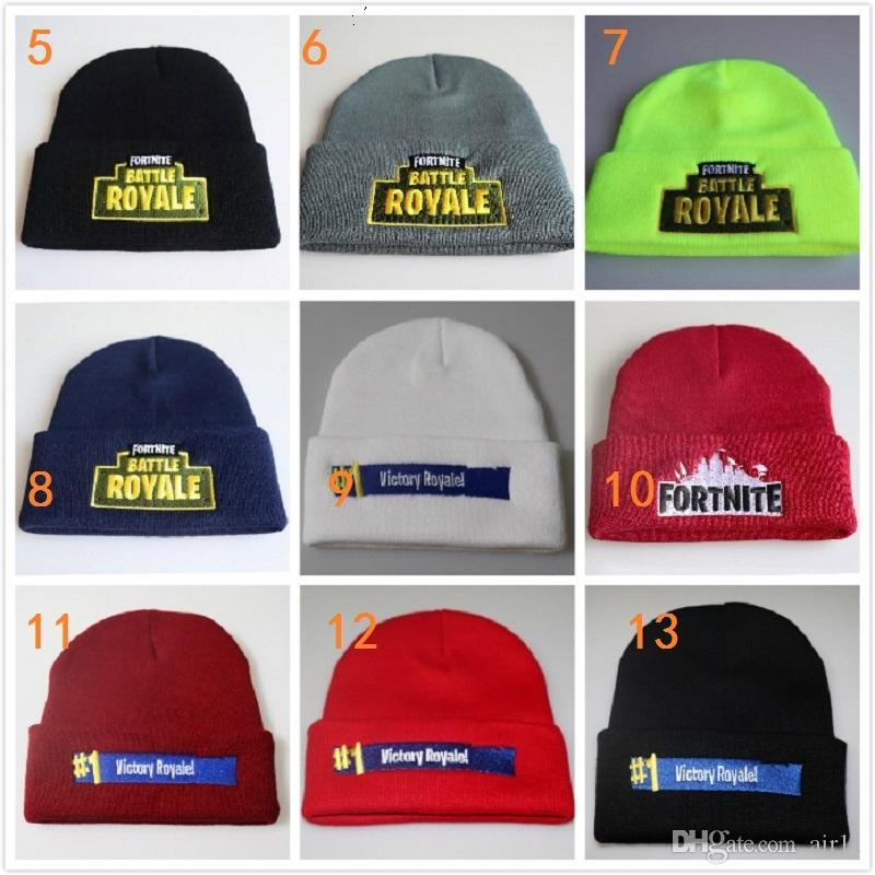 8b0ad77f2d36b 2019 Fortnite Battle Royale Cotton Teenager Hat Knitted Hat Cap Hip Hop  Embroidery Sleeve Cap Costume Accessory Gift From Air11