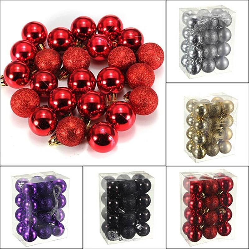 Black Christmas Balls.24pcs Lot Black Christmas Tree Jewelry Ornament Plastic Christmas Balls Best Sell Styrofoam Balls 3cm Christmas Tree Balls