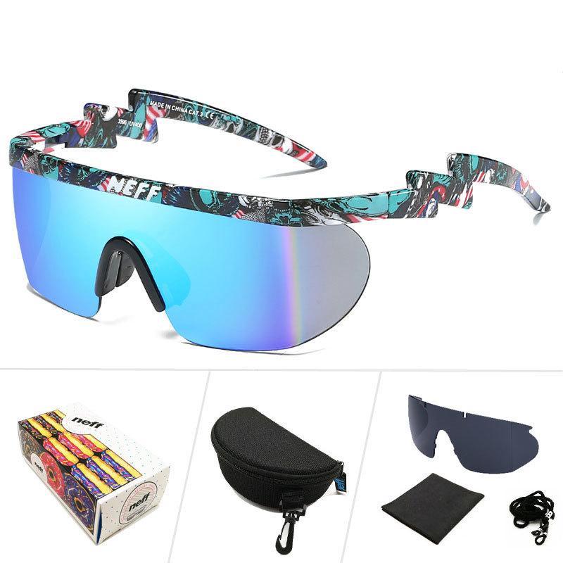 16fcc8fb9a Compre WESHION Neff Gafas De Sol Hombres Mujeres Vintage Sport Gafas De  Gran Tamaño Clip En Sombras Protección UV40 Gafas De Sol Lentes De Sol  Mujer ...