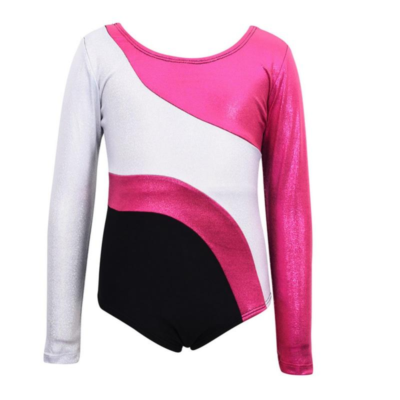 373561ba2cd3 Toddler Girls Ballet Dress Long Sleeves Athletic Dance Leotards ...