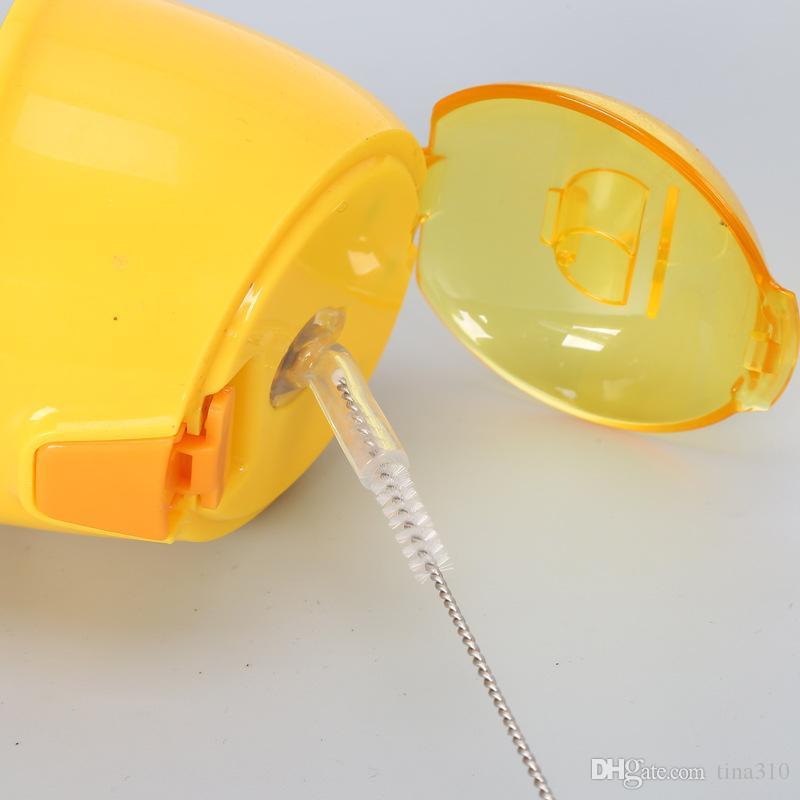 Garrafa de Limpeza de aço inoxidável de Aço Inoxidável Limpadores de Escova de Limpeza De Escova de Limpeza De Escovas De Limpeza Em Aço Inoxidável T2I008