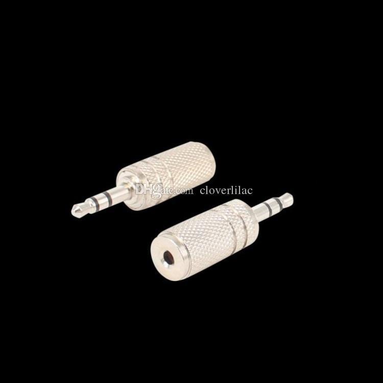 Bonne qualité de / nickelé 3.5mm mâle à 2.5mm adaptateur audio stéréo pour femme
