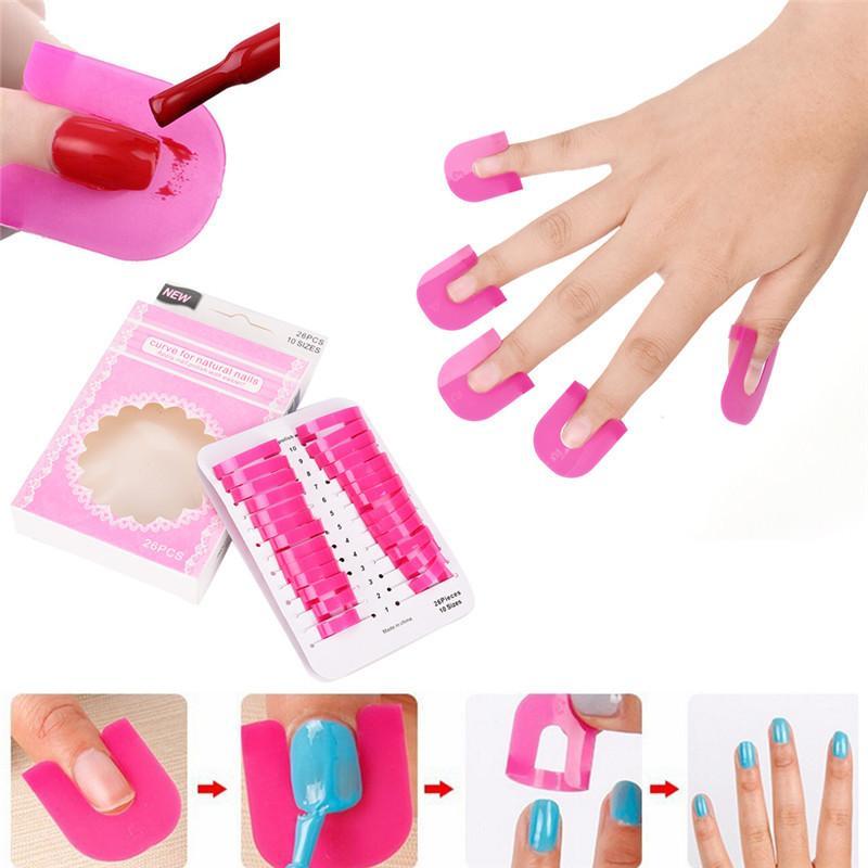 UV Gel Nails Design Nail Polish Varnish Protector Holder Manicure Finger  Nail Art Design Tips Cover Shield Tools D18111503 Cheap Nail Art Kits Nail  Art Kits ... - UV Gel Nails Design Nail Polish Varnish Protector Holder Manicure