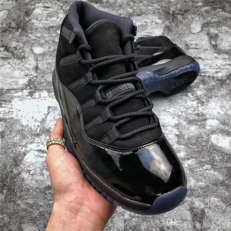 138a2997fc1 2018 Hottest Cap And Gown 11 Prom Night Blackout 11S Basketball Shoes  Sneakers For Men Authentic Real Carbon Fiber With Box 378037 005 Men  Sneakers Sneakers ...