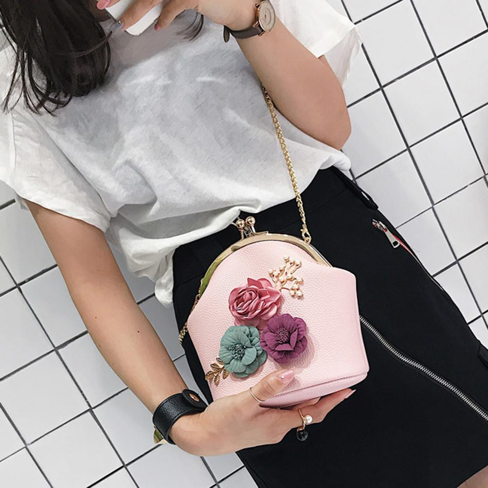 Women Fashion Stereo Flowers Shoulder Bag Ladies Small Vintage Tote Bag  Purse Chain Handbag Messenger Clutch For Girls Purses On Sale Hobo Purses  From Bking ... eea2b09a5ff74
