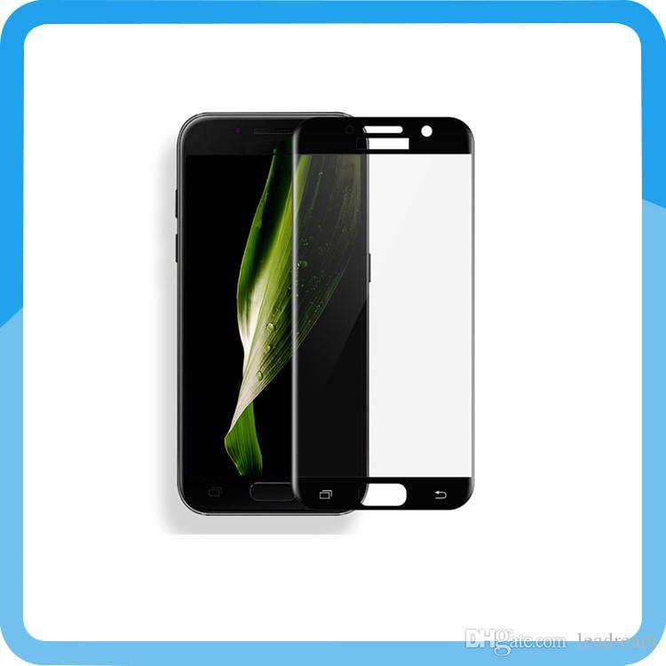 0,3 mm 9H Vollbild-Schutzfolie aus gehärtetem Glas für Samsung A3 A5 A7 2017 A320 A520 A720