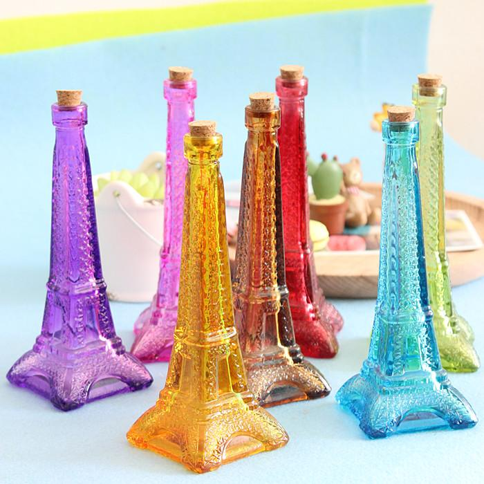 New 2017 New 2017 Zakka Colored Eiffel Tower Glass Vase Home