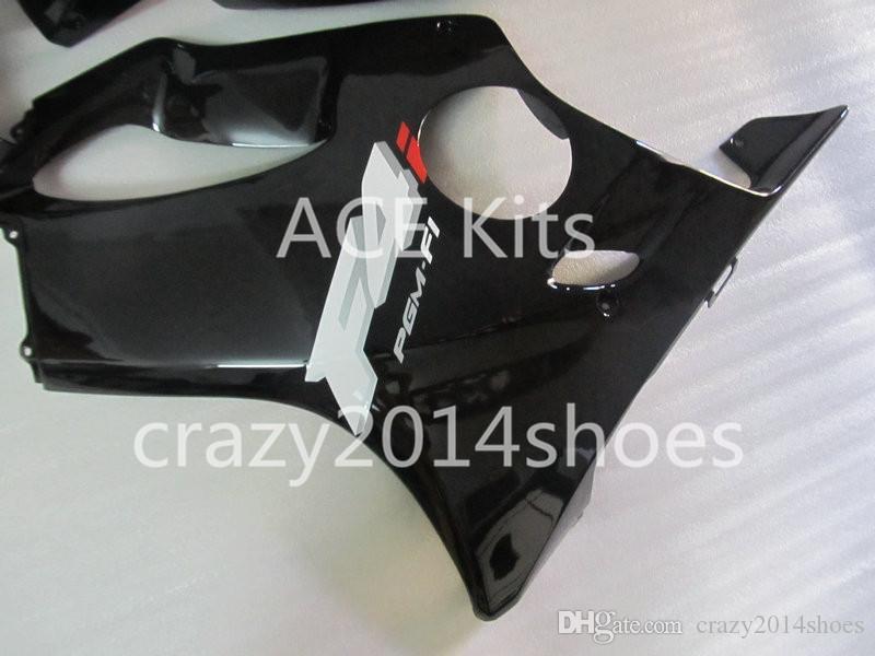 Body repair parts for HONDA CBR600F4I 2004 2005 2006 2007 Injection fairings cbr600 f4i CBR600 f4i 04-07 black gray fairing kit a1