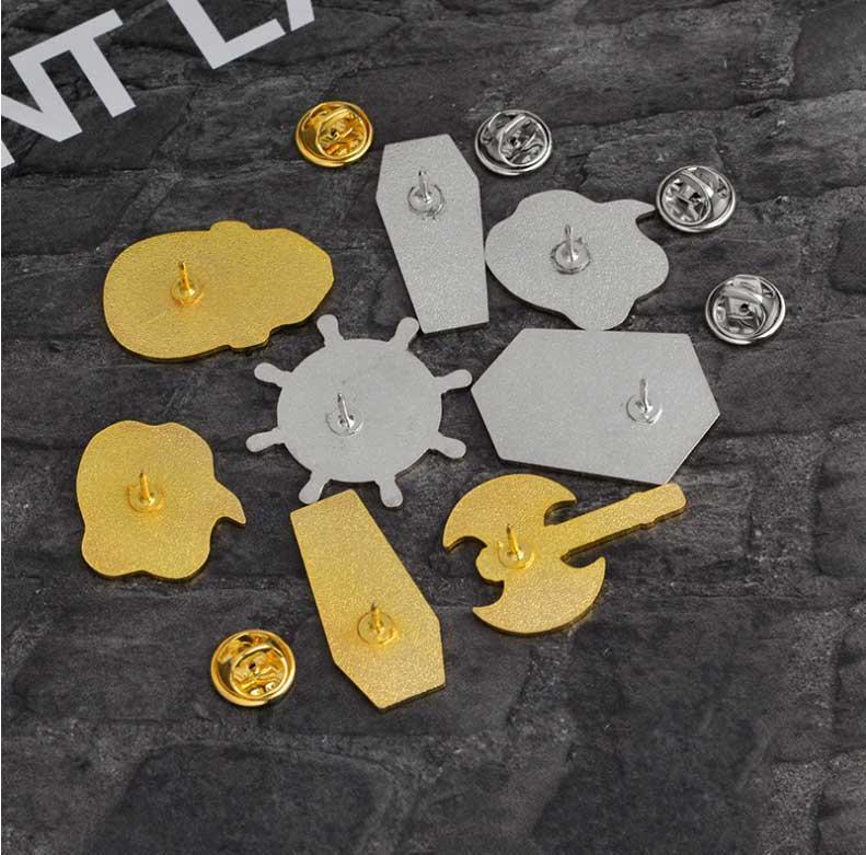 Emaille Revers Pin Skelett Piraten Kompass Axt Niedlichen Kleinen Anzug Shirt Abzeichen für Kinder Frauen Männer Geschenk Legierung Broschen Drop Shipping Broach