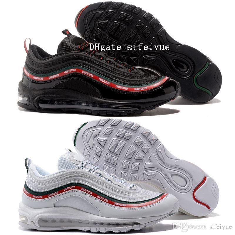b3512e8f00f86 Compre Mejores Hombres Zapatos 97 Invictos X OG Zapatillas De Deporte  Zapatillas De Deporte Mujer Deportes Zapatos Al Aire Libre Negro Blanco Envío  De La ...