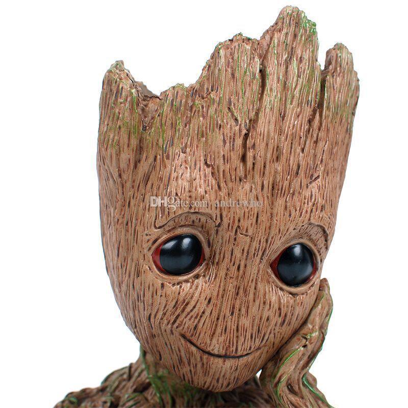 Moda Guardians Galaxy Saksı Bebek Groot Aksiyon Figürleri Sevimli Model Oyuncak Kalem Pot Çocuklar İçin En İyi Yılbaşı Hediyeleri